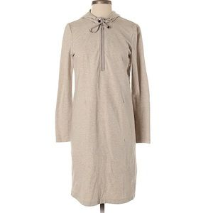 Lafayette 148 hooded half zip sweater dress